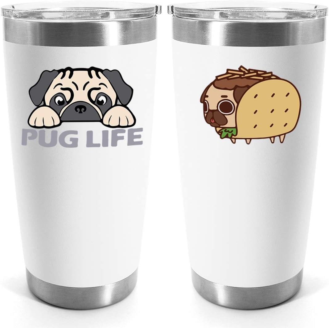 10. Pug Life Stainless Steel Travel Mug