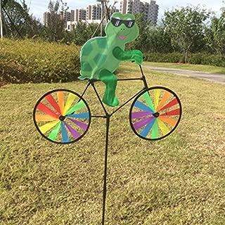TULLE Cute 3D Animal on Bike Windmill Wind Spinner Garden Lawn Yard Decor (8)