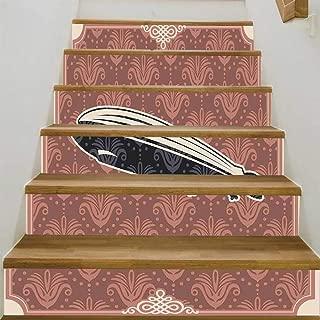 YOLIYANA Retro Poster Staircase Stair Floor Sticker