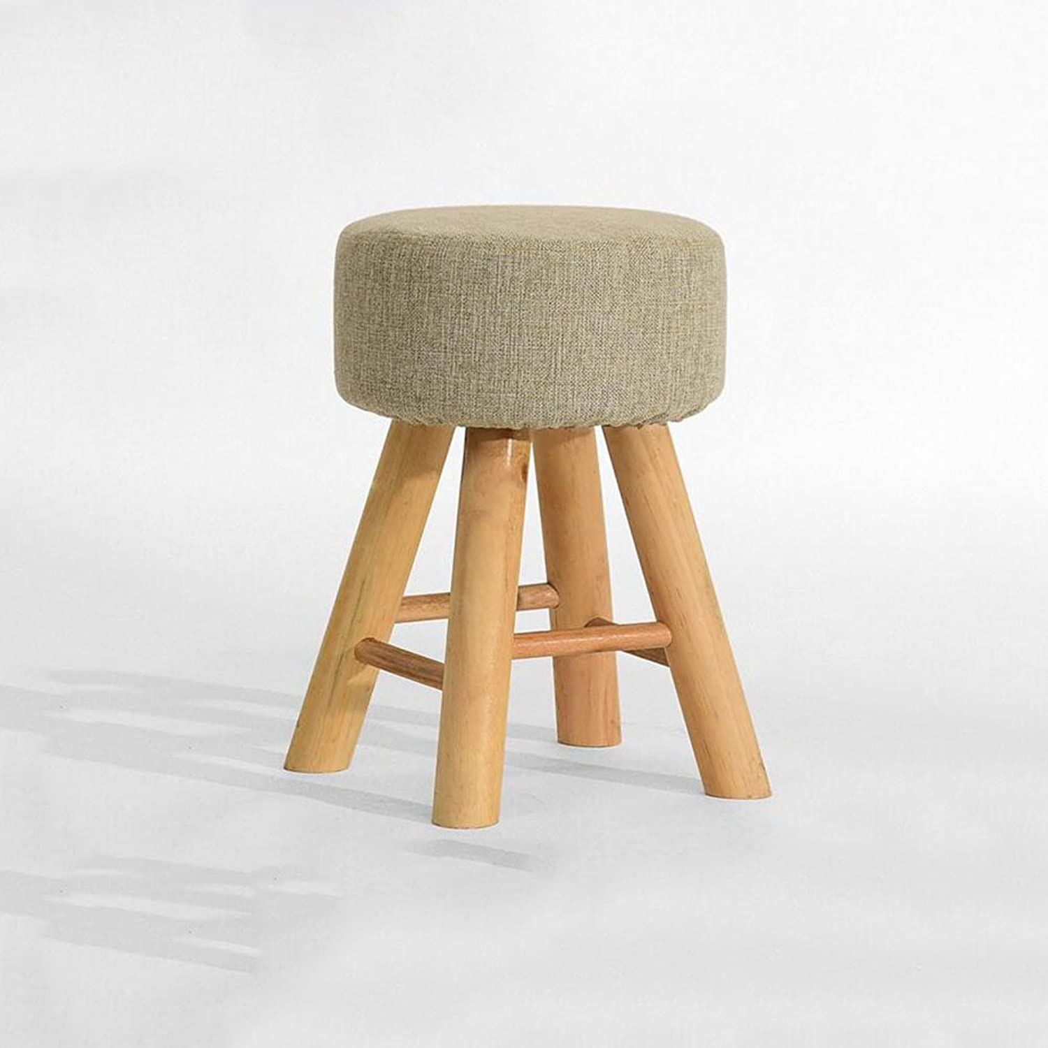 CJC Wooden Stool Household Removable seat Cover Easy to Clean Makeup Stool Home Office Furniture Kitchen (color   2)