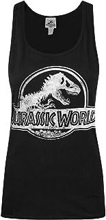 Licenza Ufficiale Jurassic Park Distressed Logo Donna Maglietta Abbigliamento