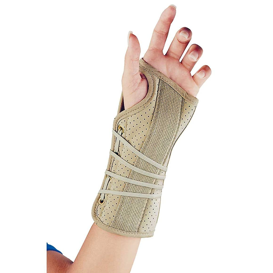FLA Soft Fit Suede Wrist Brace - Beige - Left Small