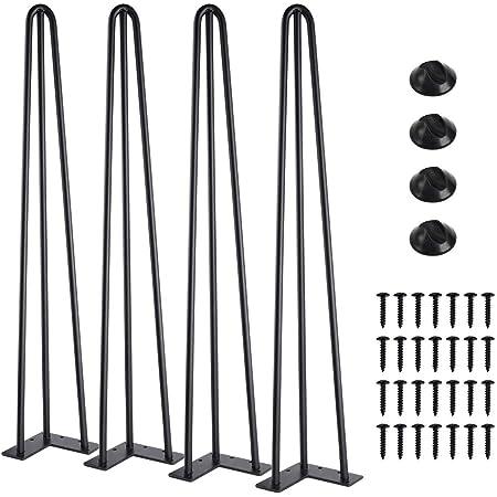 Schwarz 100cm//3 Streben viele Farben alle Gr/ö/ßen 4x Natural Goods Berlin Hairpin Leg Tischbeine |12mm Stahl