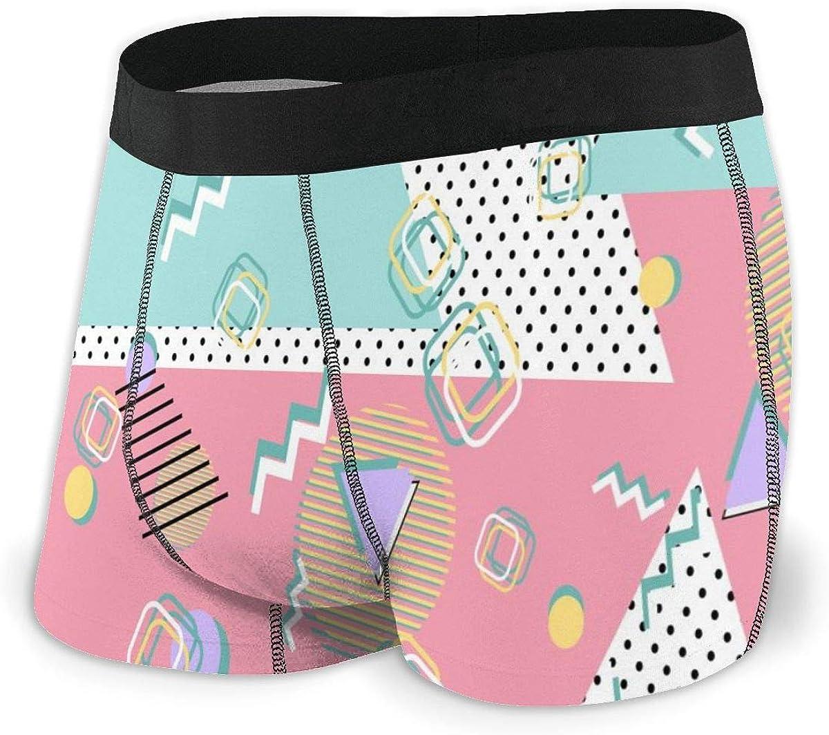 Randolph Wordsworth Mens Boxer Briefs Memphis Hipster Style 80s-90s Breathable Underwear