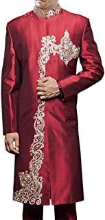 INMONARCH Men Sherwani Maroon Sherwani for Men Bollywood Western Attire Designer SH412