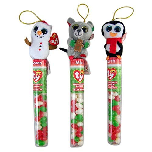 36144cf7c00 Ty Beanie Boos Christmas Stocking Stuffer Tube with Collectible Topper and  Jelly Beans