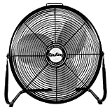 Air King 9220 20-Inch Industrial Grade High Velocity Pivoting Floor Fan, 20 Inches, Black