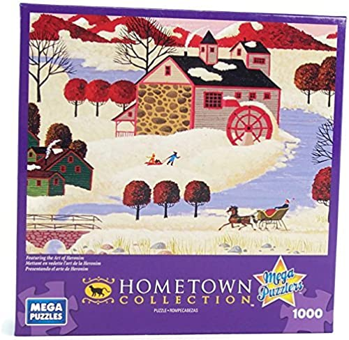 Hometown Collection Winter in Maine 1000 Piece Jigsaw Puzzle By Heronim by Mega Puzzles