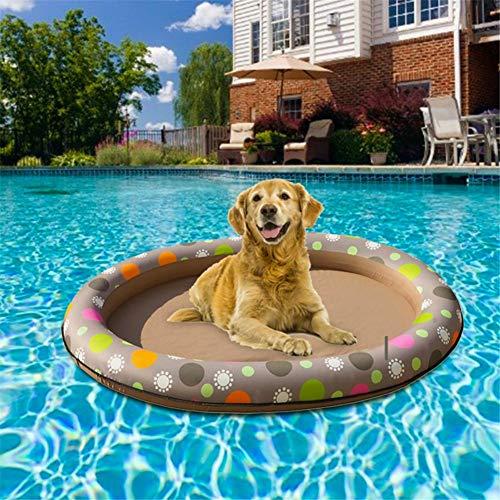 Blentude Hund Schwimmbad Aufblasbare Hängematte Haustier Pool -Floating Bett Frühling Sommer Schwimmring