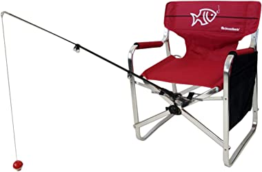 Tuscany Pro Oasis Director Fishing Chair with Rod Holder - Premium Folding Aluminum Chair