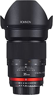 Rokinon AE35M-C 35mm F1.4 Aspherical Lens for Canon EF Cameras