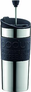 BODUM ボダム TRAVEL PRESS SET トラベルプレスセット フレンチプレス コーヒーメーカー (タンブラー用リッド付き) ステンレス製 350ml ブラック 【正規品】 K11067-01
