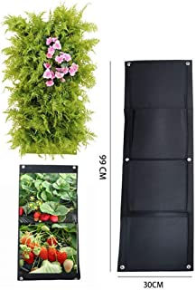 Pasamer 7//12//15//18 Bolsillos Bolsa de siembra Jard/ín Balc/ón Pared Vertical Flor Plantas Jardinera Colgante 18 Bolsillos