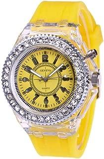 Docooler Women Multi-Functional Silica Gel Nightlight Watch Fashion Lovely Student Wristwatch LED Electronic Quartz Watch