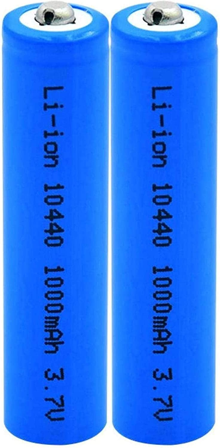 3.7v Max 85% OFF 1000mah 10440 Lithium Ion Li-Ion Replacement Batteries Cell outlet