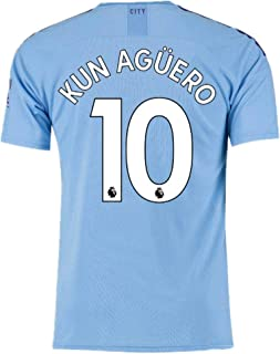 #10 KUN Aguero Soccer Jersey Manchester City Home Mens 2019-2020 Season Blue