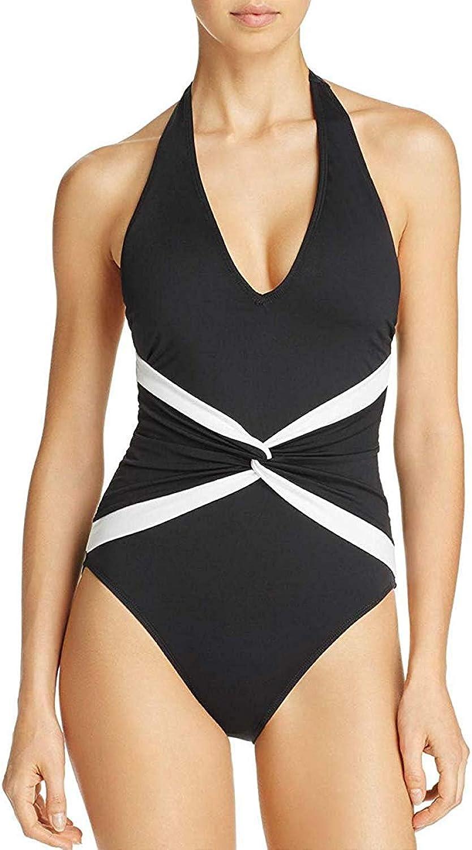 Lauren Ralph Lauren Womens Plunging Twist Front OnePiece Swimsuit