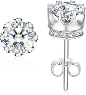 Swarovski Elements 925 Sterling Silver Crystal Studs Earrings for Females Women Ladies Girl friend Gift J.Rosée Jewelry JR905