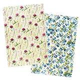Ideen mit Herz 2 fogli di carta di riso | Carta per decoupage | DIN A4 | 2 diversi motivi | vintage, Natale e molto altro (fiori 13)