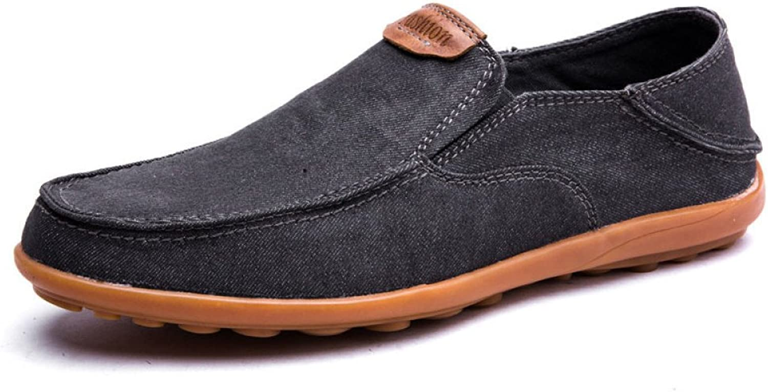 ZLLNSPX Mens Canvas shoes Low shoes Casual Breathable Slip-on