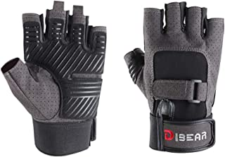 DIBEAR Workout Gloves for Women and Men, Breathable and...