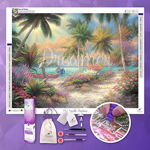 Dreamer Designs - Isle of Palms, 5D Diamond Painting Kit, 80 x 60cm (31.5'' x 23.6''), Full Drill Square Diamonds, DIY Diamond Art, Paint with Diamonds