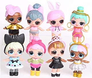 CARIEDO 8pcs Girl Dolls Set with accessories Mini Doll Figures Baby Toys Surprise Gifts For Children Ideal