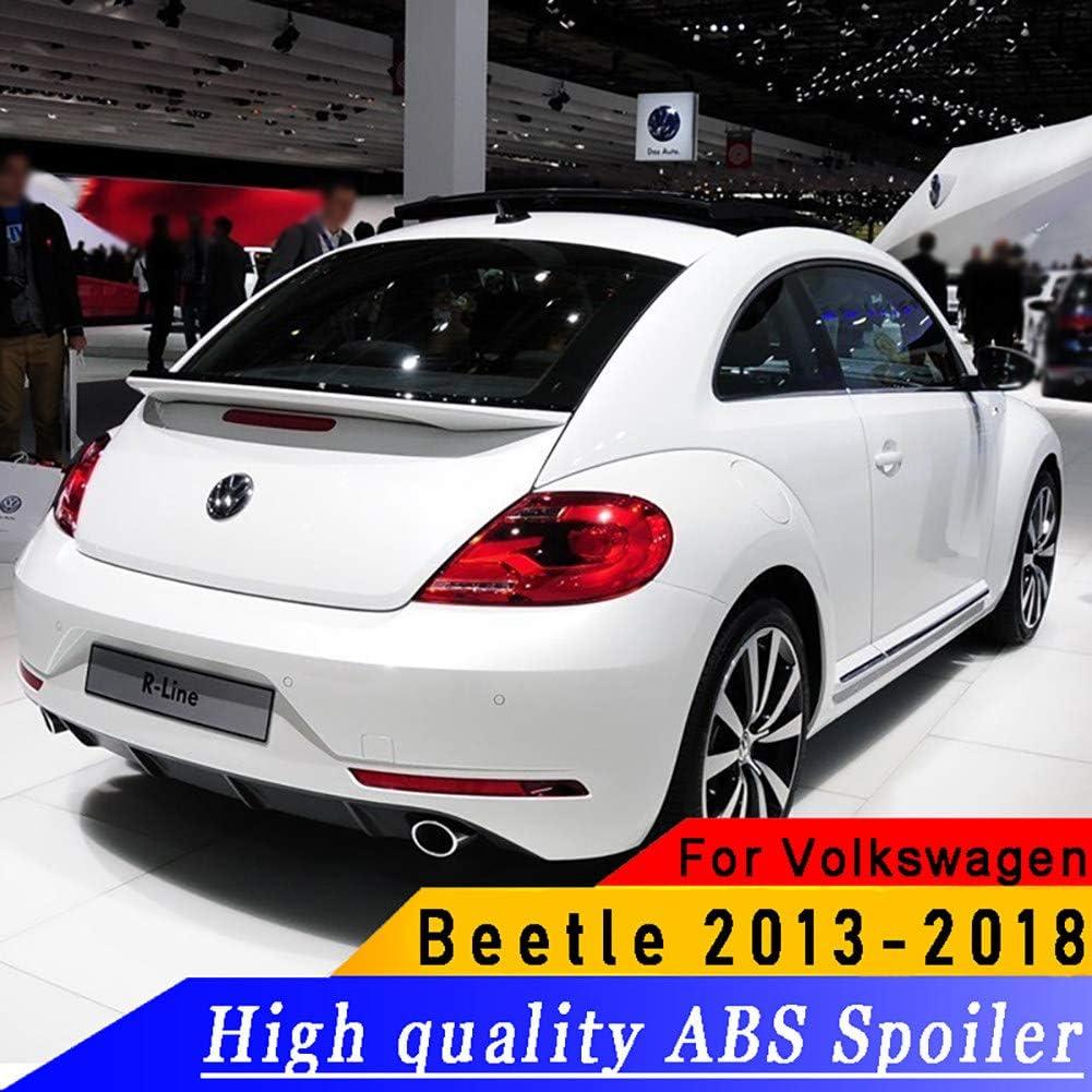REAMIC Grundierung Oder Schwarz-Wei/ß-Farben Malten ABS-Auto-Heckspoiler-Fl/üGel F/üR Vw Beetle 2013-2018,Black