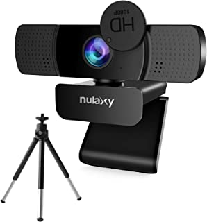 Nulaxy C903 HD 1080P Webcam, USB Webcam with Microphone, Privacy Shutter and Tripod for Video Calling, Online Class, Confe...
