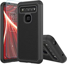 TCL 10 5G UW Case,TCL 10 5G UW Case,with HD Screen Protector [Shock Absorption] Hybrid Dual Layer TPU & Hard Back Cover Bu...