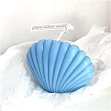 Candles Shell Candle Home Decoration Shooting Background Props Birthday Decoration Soy Wax Scented Candles (Color : Blue)