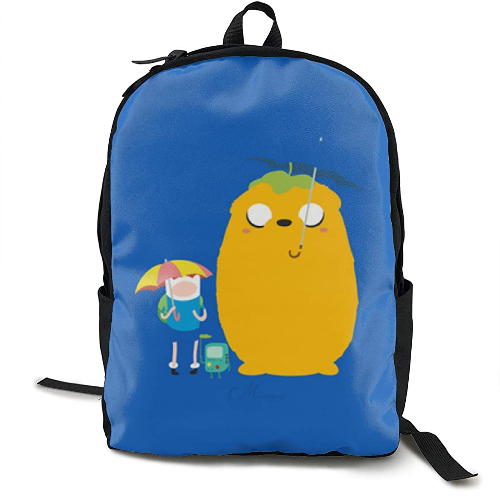 Adventure Time Fashionable Casual Shoulders Multipurpose Backpack School Backpack Travel Rucksack Bag Laptop Daypack For Youth Men And Women