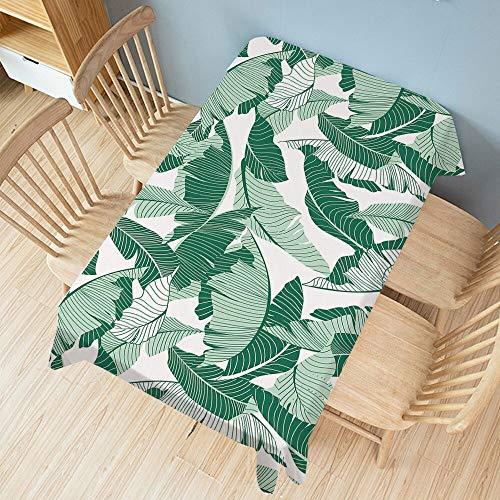 XXDD Tovaglia vegetale Verde tovaglia Rettangolare per Tavolo da Pranzo per Feste Tappetino per Vestiti Impermeabile Home Decor A10 135x135cm