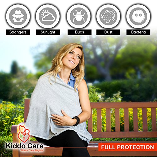 Kiddo Care Nursing Cover Infinity Nursing Scarf for Breastfeeding (Elegant Grey)