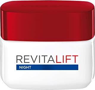 L'Oreal Paris Revitalift Moisturizing Night Cream with Pro-retinol & Fibrelastyl - Anti-Wrinkle + Enhanced Elasticity, 50ML