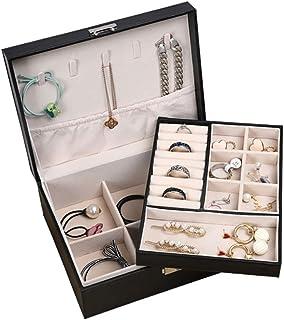 Jewelry Box Organizer 2-Layer Jewelry Box PU Leather Jewelry Display Storage Case Gift for Women Girls