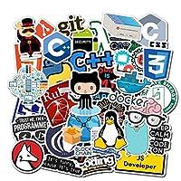 おもちゃ 50ピースインターネット新しいプログラミングステッカーパックオタクPhp Docker HTMLラップトップ冷蔵庫電話スケートボードトラベルスーツケースDIYの水 (Color : 10pcs)