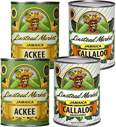 Linstead Market Jamaica Ackee and Callaloo 19oz Variety 4-Pack