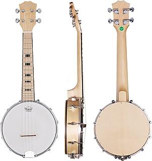 Kmise Banjo Ukulele Banjo lele 4 Cadenas Ukelele Uke Concierto 23 Pulgadas Tamaño Maple Wood