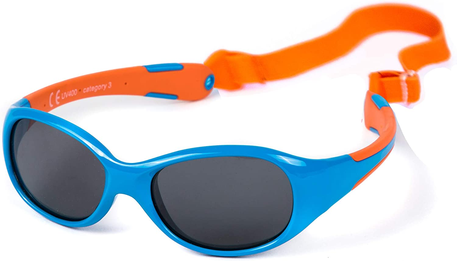ALLROAD Unbreakable Very flexible Adjustable and Removable Elastic Band KIDDUS Sunglasses Made in One Piece 100/% UV400 protection For Babies from 0 Months BPA free