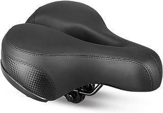 comprar comparacion Sillín de Bicicleta, Asiento de Bicicleta Almohadilla a Prueba de Golpes, Cojín para Bicicleta de Piel Sintético Suave Ade...