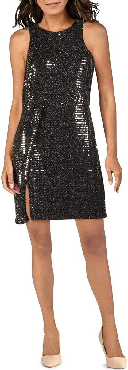 endless rose Womens Metallic Sequined Cocktail Dress