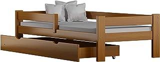Children's Beds Home Lit Simple en Bois de Pin Massif - Saule avec Tiroirs et Mousse - Fibre de Noix de Coco - Matelas à P...