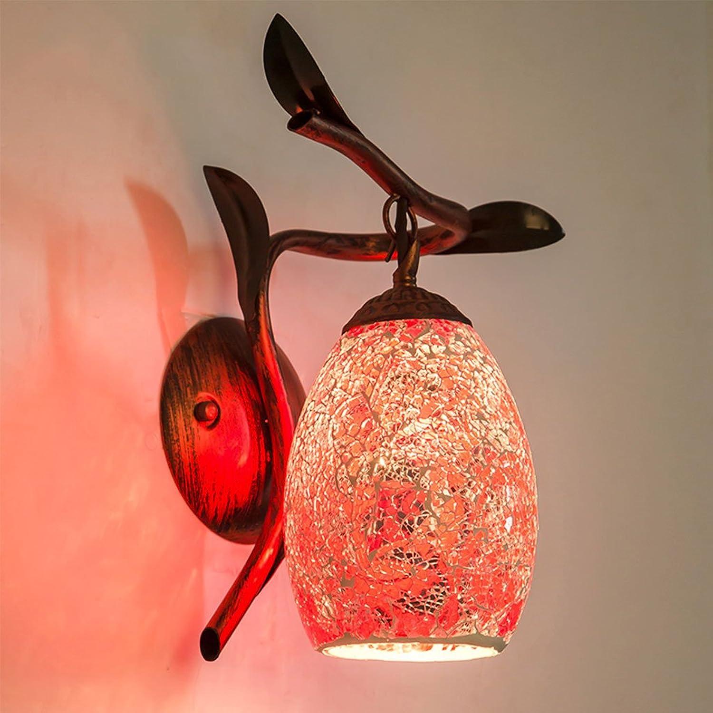 FJH American Pastoral Retro Wandleuchte Schlafzimmer Nachttisch Kreative Kunst Wohnzimmer Dekoration Nachtlicht (Farbe   A)