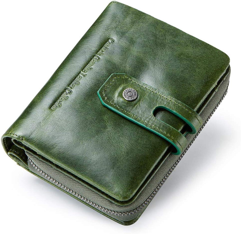Shishanyun Shishanyun Shishanyun Damenbrieftasche Casual Buckle Fashion Design Leder Kurze weibliche Brieftasche mit vielen Funktionen (Farbe   Grün, Größe   S) B07L87CN4G 189814
