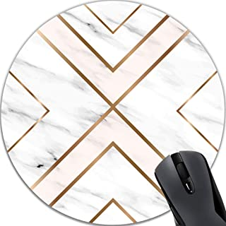 Mouse Pad White Chic Pattern Cute Desk Mousepad Non-Slip Rubber Custom Computer Accessories Gaming Mouse Pad Rectangle Mouse Pads for Home and Office Work