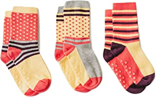 Organic toddler socks with seamless toes, kids socks with grips or anti-slip for sensory or sensitive boy or girl