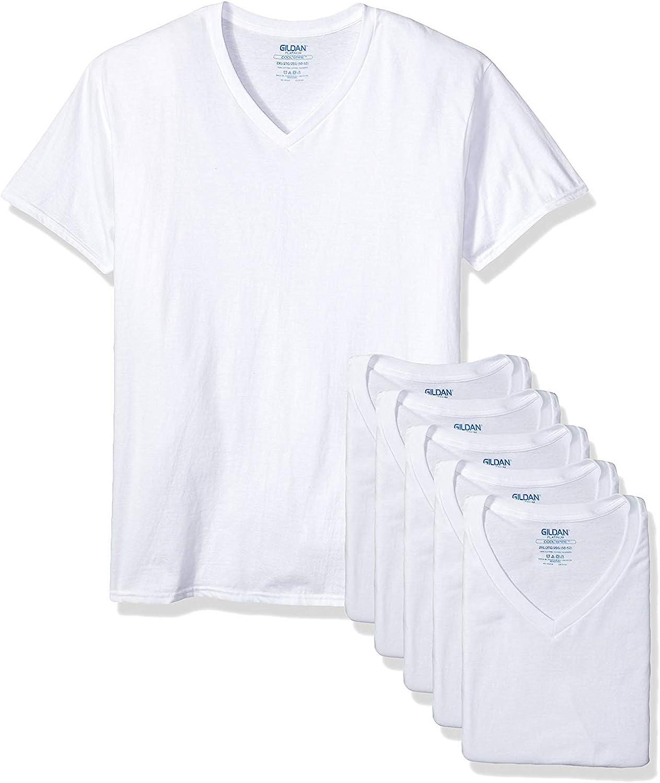 Gildan Platinum Manufacturer regenerated product Men's Direct stock discount 5-Pack 2XL V-Neck T-Shirt