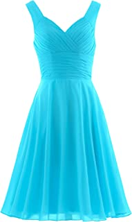 Women's Pleated Sweetheart Bridesmaid Dresses A Line Cocktail Gown