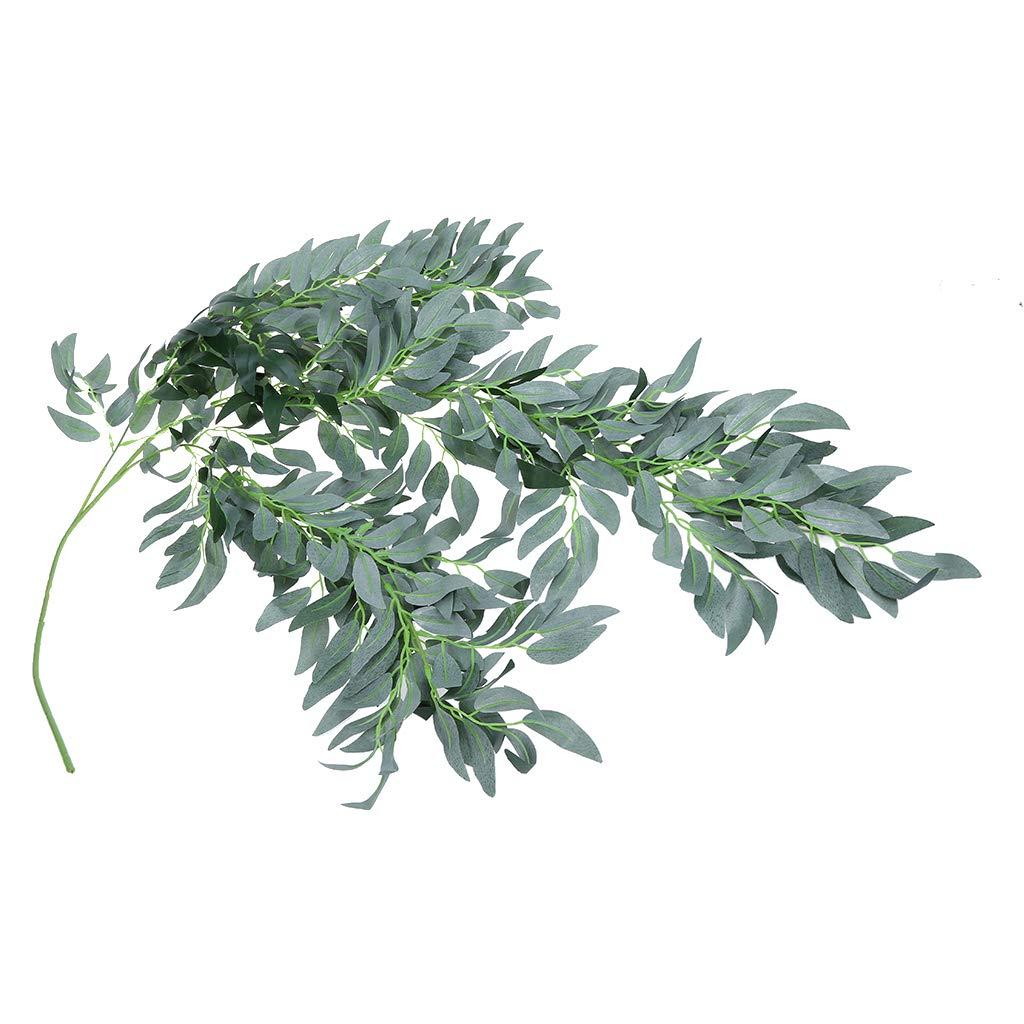 Guirnalda de Hojas de eucalipto y Sauce de Plata sint/ética de 5.9 pies Kokmn